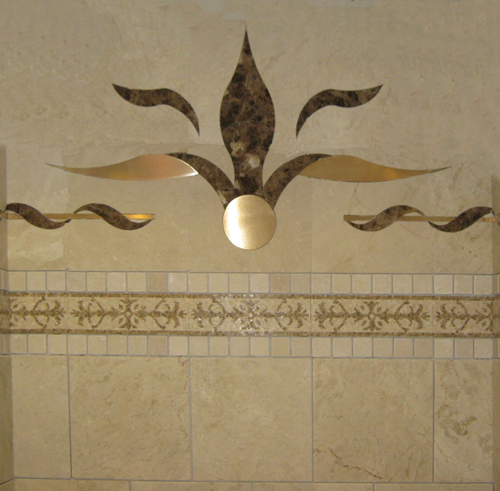 Floral Tile Inlays | Dream Weaver Designs LLC